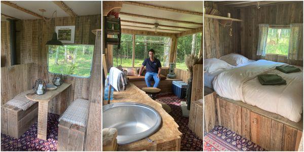 L'intérieur de la Cabane de Louvois