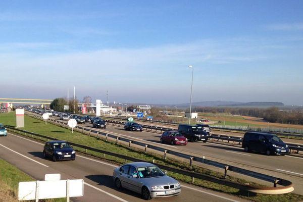 L'autoroute A6 dans l'Yonne