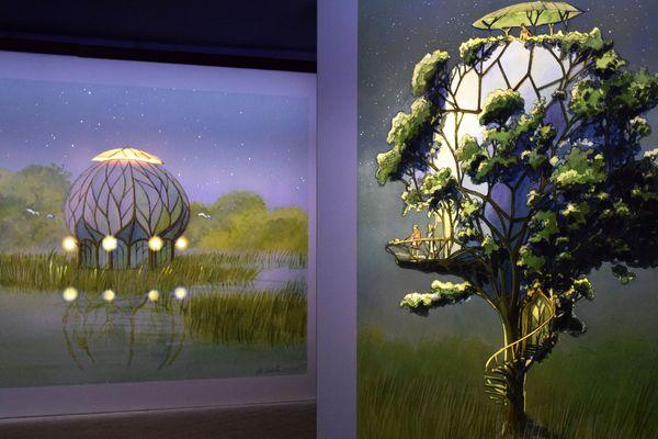 """L'exposition """"les panoramas 2100"""" et le Festival des jardins rendent hommage au travail de Luc Schuiten"""