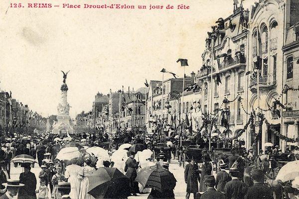 Autrefois, quand c'était jour de fête, Place Drouet-d'Erlon.
