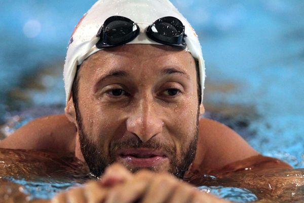 Fabien Gilot - ici à l'entraînement - conservent son titre européen dans le 4x100m nage libre.