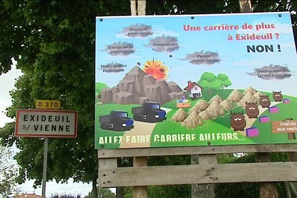 Le conseil municipal d'Exideuil a voté contre à l'unanimité le projet de nouvelle carrière