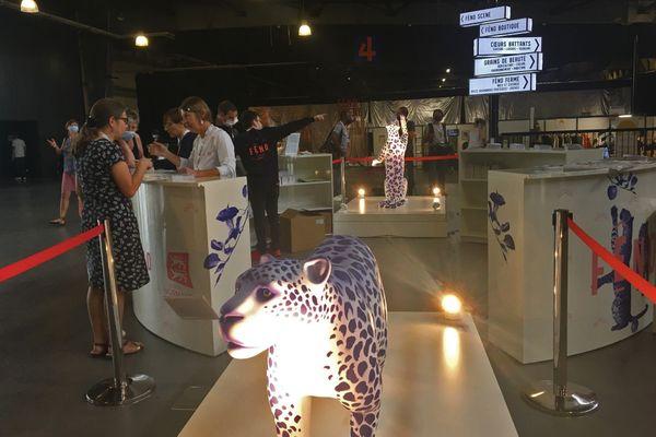 Entrée du festival FENO au parc-expo de Rouen le 10 septembre 2021