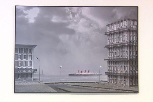 Le Havre vu par Philippe de Gobert. Œuvre  exposée  au MuMa du Havre de juin à début novembre 2021
