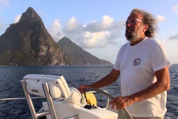 """Antoine, réalisateur et conférencier en tournée pour présenter son film """"Les Caraïbes"""" pour Connaissances du Monde."""