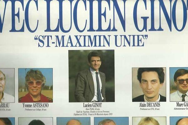En 1989, Marc Gauché (à droite) se présente aux élections municipales de Saint-Maximin (Var)