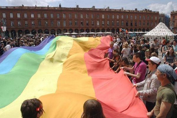 La Marche des Fiertés a lieu chaque année à Toulouse depuis 19 ans (archives juin 2008)