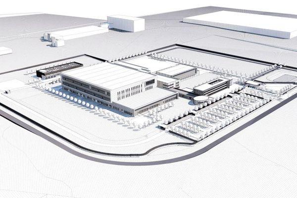 La future usine LFB dans la zone industrielle Actiparc de la Communauté urbaine d'Arras
