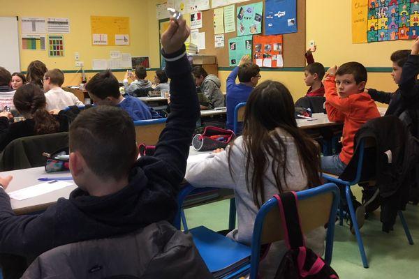 Les élèves de CM2 l'école Saint-Joseph à Saint-Aubin-des-Landes