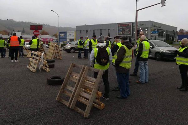Les manifestants ont installé des barrages dans le Sud de Vienne