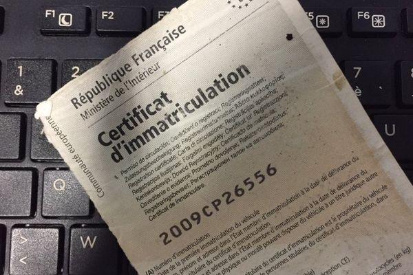 Les demandes de carte grise (certificat d'immatriculation) des véhicules se feront à partir du 6 novembre sur internet