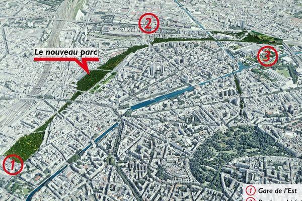 """Le """"Central Park parisien"""" proposé par Benjamin Griveaux."""