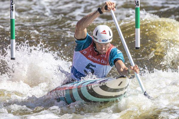 Martin Thomas lors des championnats d'Europe à Prague le 20 septembre 2020.