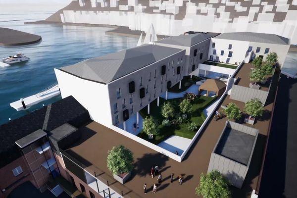 Le futur hôtel 4 étoiles équipée d'une thalassothérapie à Fécamp.