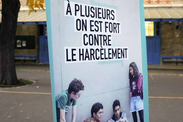 Lors de la journée nationale contre le harcèlement, à l'école Chaptal à Paris, le 7 novembre 2019 (photo d'illustration)