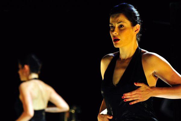 Carole Thibaut dans Fantaisies (L'Idéal féminin n'est plus ce qu'il était), au Théâtre des Ilets de Montluçon. Cette pièce performance a été créée en 2008 et est jouée depuis tous les 8 mars par son auteure.