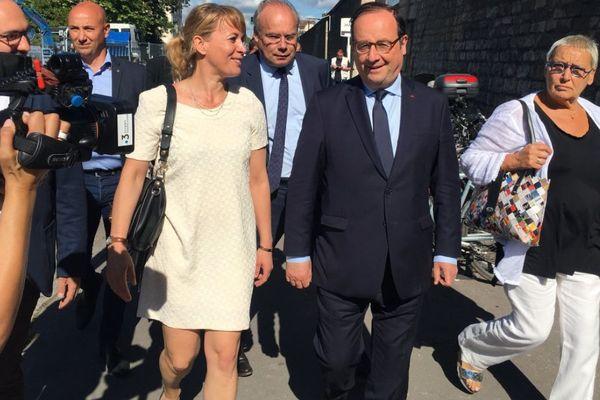 """François Hollande est à Dijon lundi 19 juin 2018. A son programme figure notamment une séance de dédicace de son dernier livre """"Les leçons du pouvoir"""""""