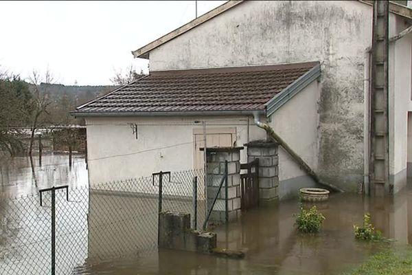 Nombre d'habitations ont été touchées par les crues