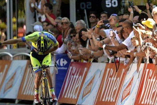 L'australien Michael Rogers arrive en vainqueur à Bagnères-de-Luchon le mardi 21 juillet 2014