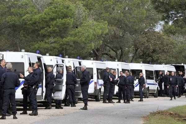Un dispositif policier impressionnant avait été déployé à Roquebrune-sur-Argens.