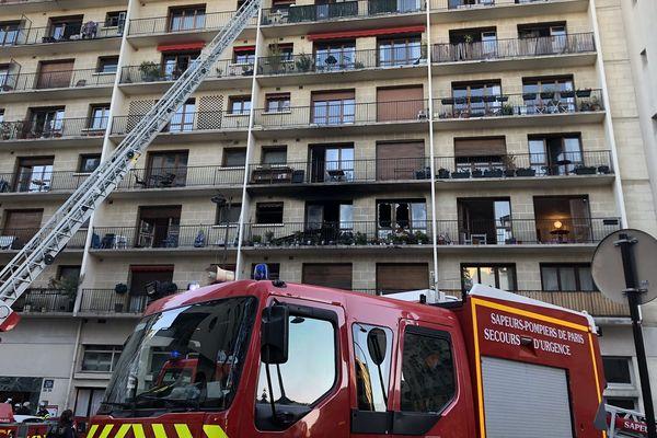 Un incendie rue de la Tombe Issoire a fait un blessé grave ce mercredi matin.