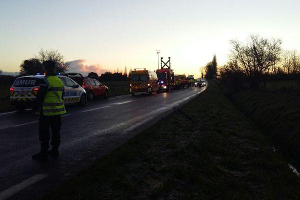 Un blessé grave dans un accident dû au verglas aux Champs-Géraux (Côtes d'Armor)- 12/12/2017