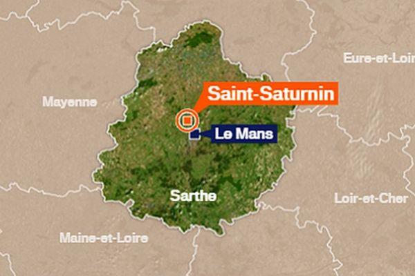 Saint-Saturnin où s'est déroulé l'accident.