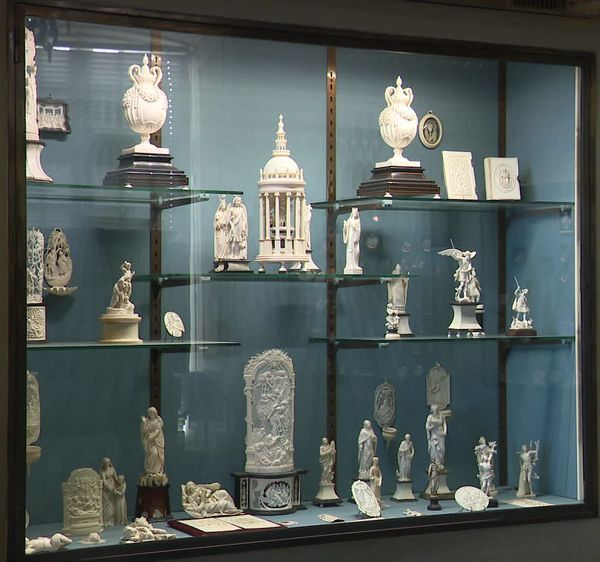 Collection d'ivoires au musée de Dieppe