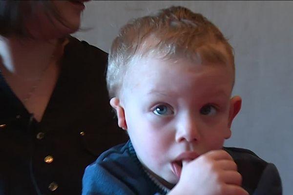 Mathieu a fêté ses trois ans, ce mardi 19 mars 2019. Il attend avec impatience son opération.