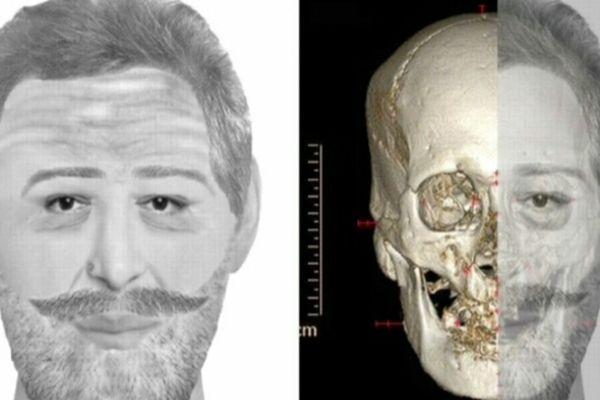 Portrait robot de Henri IV réalisé à partir du crâne retrouvé en 2008.