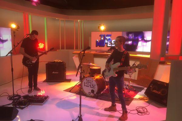 Le groupe The Wipes s'était produit sur le plateau de France 3 Lorraine dans le cadre de Musiques! en février 2019