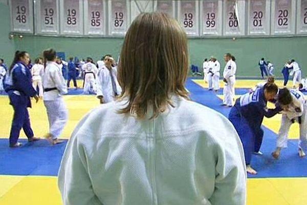 Entrainement de l'équipe de France de judo au Creps de Montpellier. Août 2015.