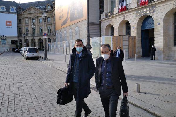 Gilles Simeoni et Jean-Guy Talamoni ont été reçus au ministère de la Justice jeudi 12 novembre.