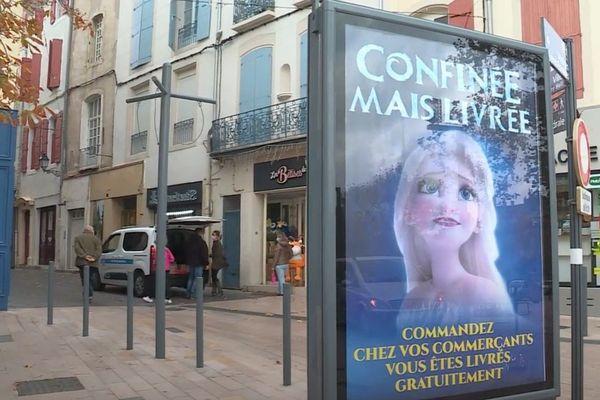 """À Béziers, la mairie organise la livraison pour les petits commerces """"non-essentiels"""" du centre-ville."""
