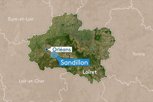 Un véhicule a effectué une sortie de route à Sandillon (Loiret), samedi 16 mars.