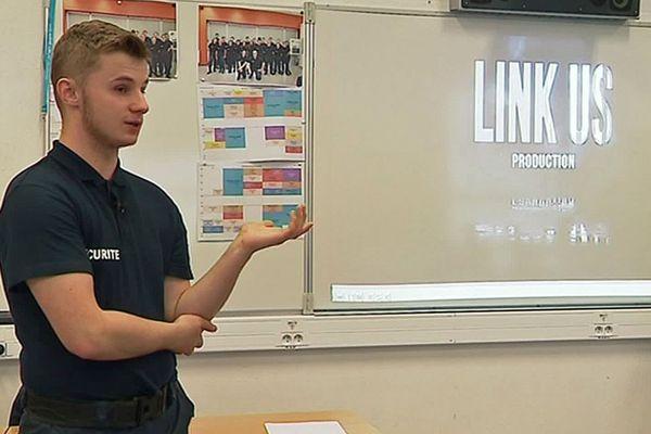 Clément Garnier a présenté son court-métrage sur le harcèlement dans son lycée de Maubeuge.