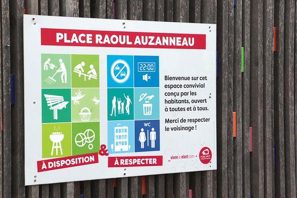 Sur la place Raoul Auzanneau, les bruits de voisinage sont interdits à partir de 22 heures.