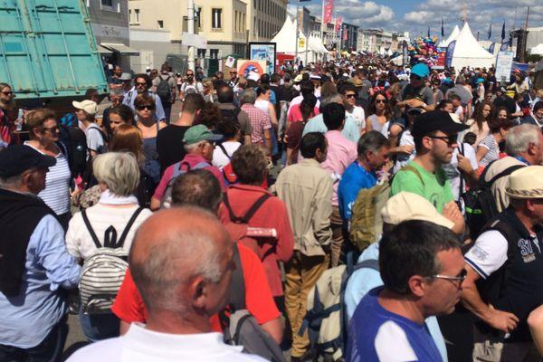 La foule sur les quais de Brest 2016