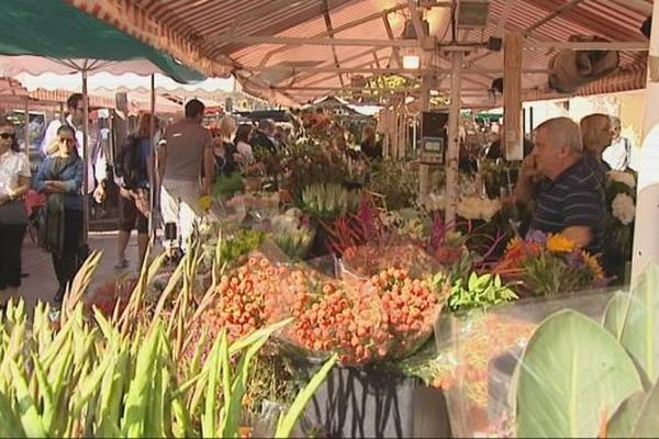 déclin du marché au fleurs