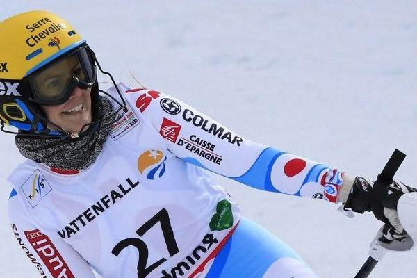 Laurie Mougel, en février dernier aux championnats du monde de Schladming en Autriche.