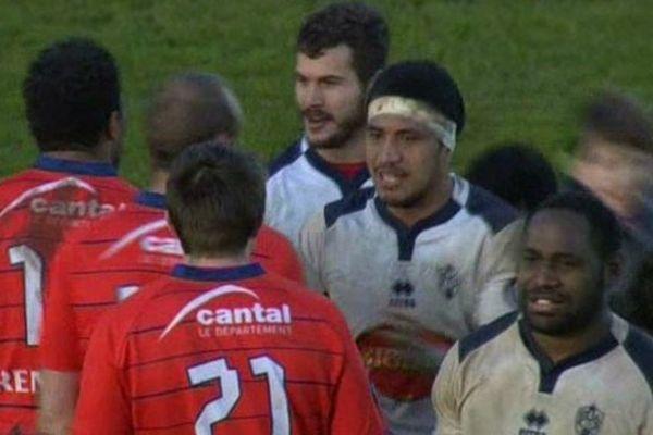 Le sourire des joueurs d'Agen après la correction infligée à Aurillac
