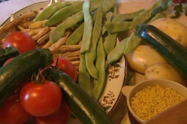 Les ingrédients de la soupe au pistou