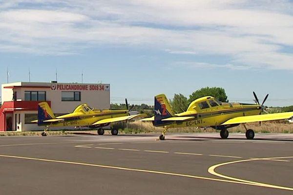 Les bombardiers d'eau Air Tractor du SDIS 34