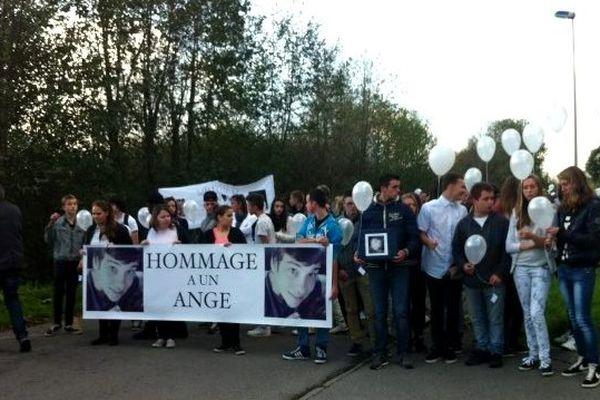200 personnes ont assisté à la marche blanche pour Wilfried