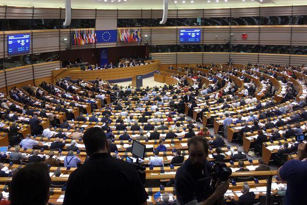 Les députés en séance au Parlement européen à Bruxelles