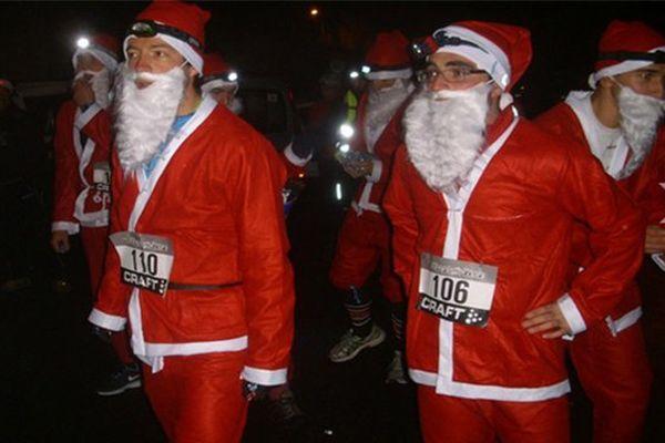 Le trail nocturne de Noël se fait déguisé  et se déroulera à Auroux en Lozère le 17 décembre 2016.