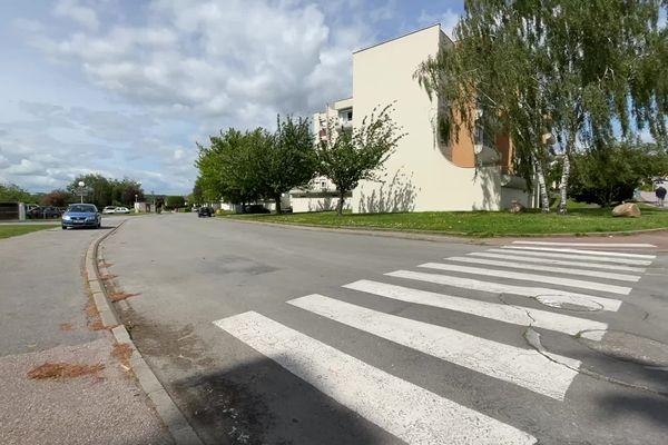 Le passage à piéton où s'est produit l'accident