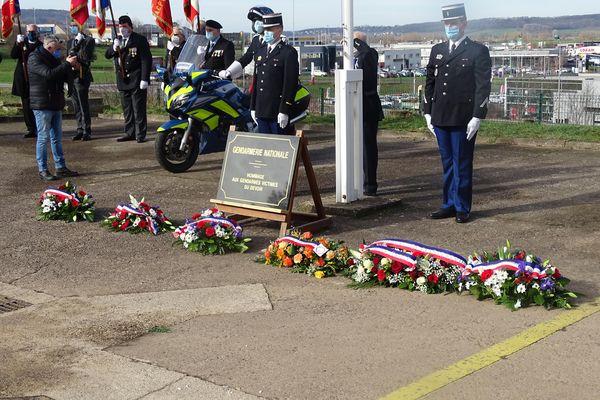 cérémonie d'hommage le 16 février au Groupement de Gendarmerie de la Haute-Saône