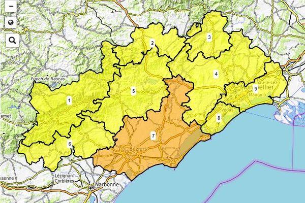 Le risque d'incendie est particulièrement fort au sud-ouest de l'Hérault.