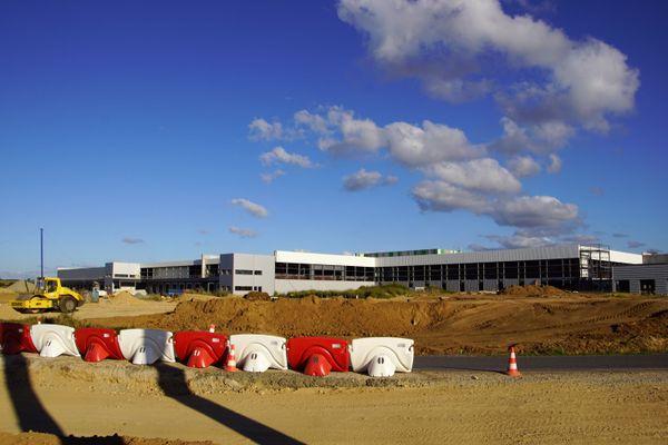 La plateforme de la Sica, en cours de construction à Saint Pol de Léon